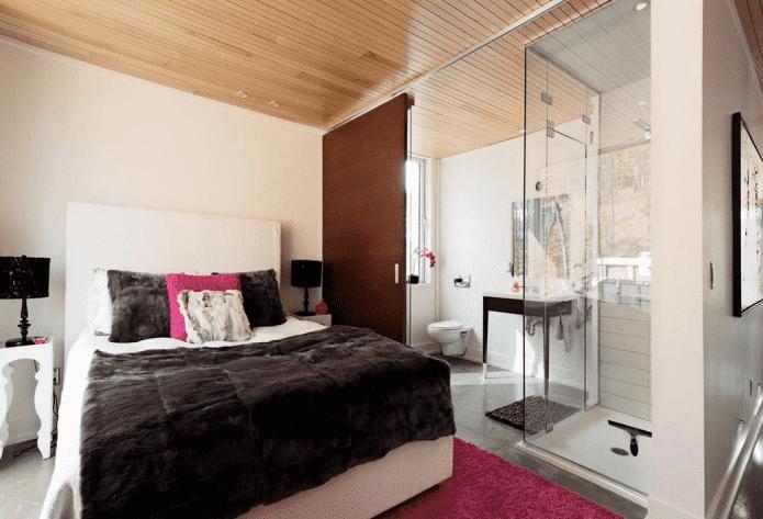 Спальня с душевой