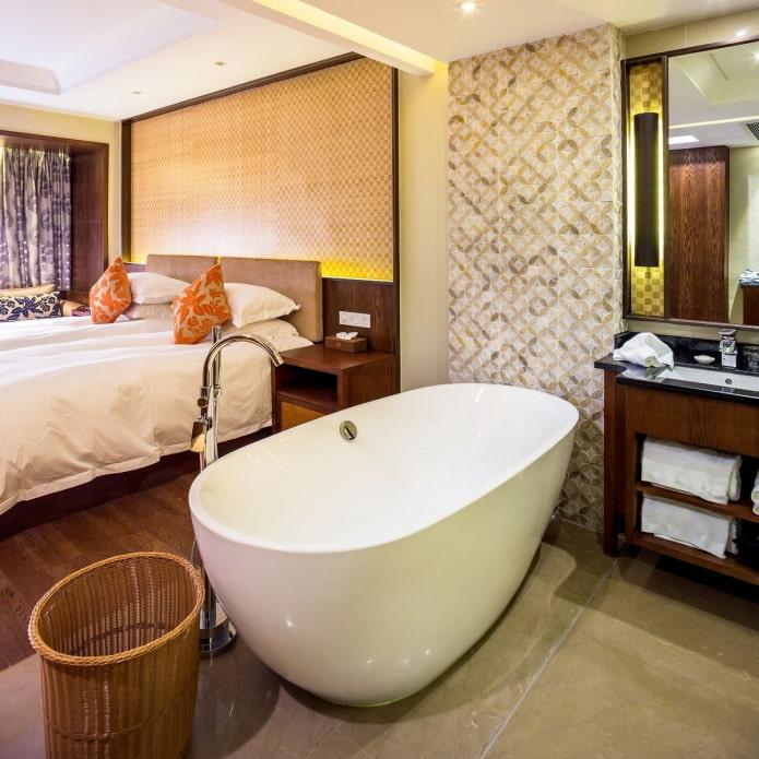 ванная совмещенная со спальней