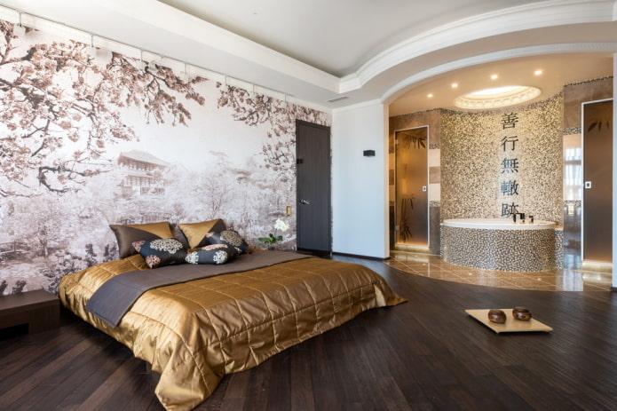 ванная-спальня в японском стиле