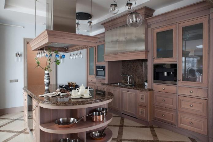 дизайн острова в интерьере кухни