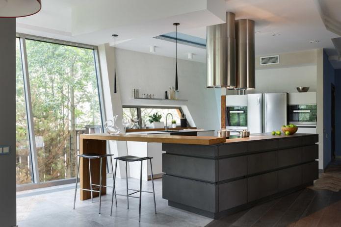 остров в интерьере кухни в современном стиле