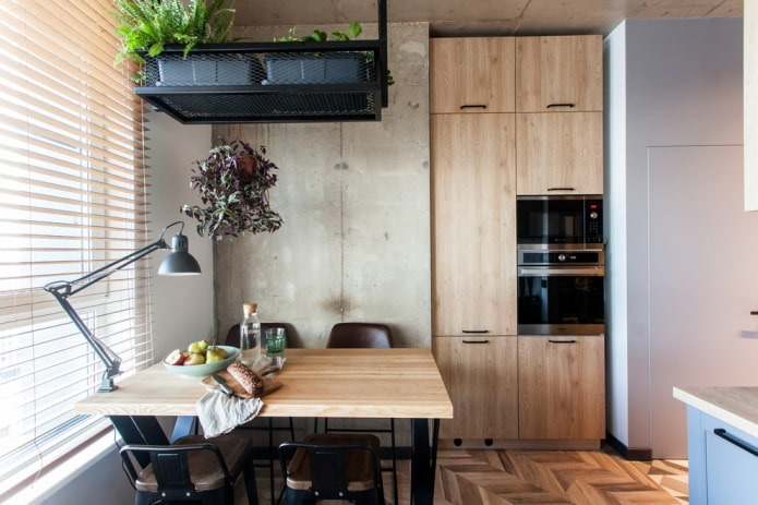 малогабаритная кухня в стиле лофт