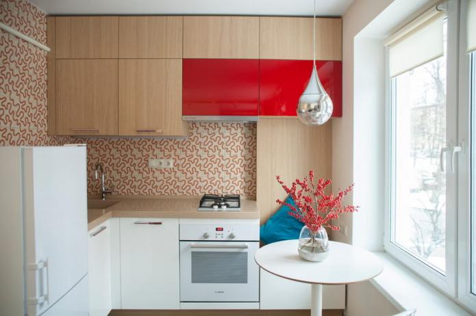 кухня площадью 6 квадратов в стиле минимализм