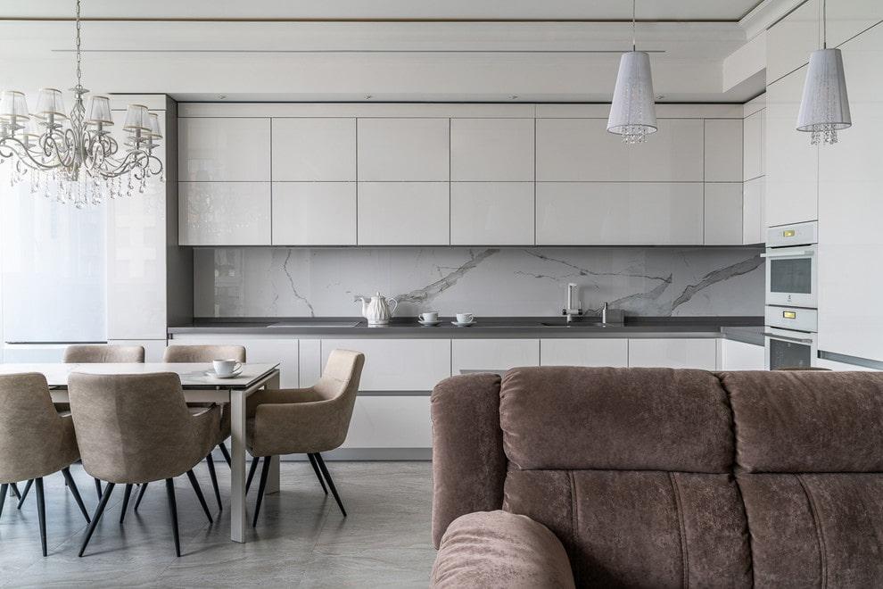 Дизайн кухни, совмещенной с гостиной, в «хрущевке» | 660x990