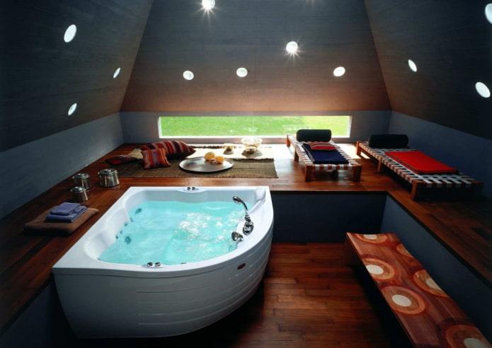 Ванная с внутренней подсветкой