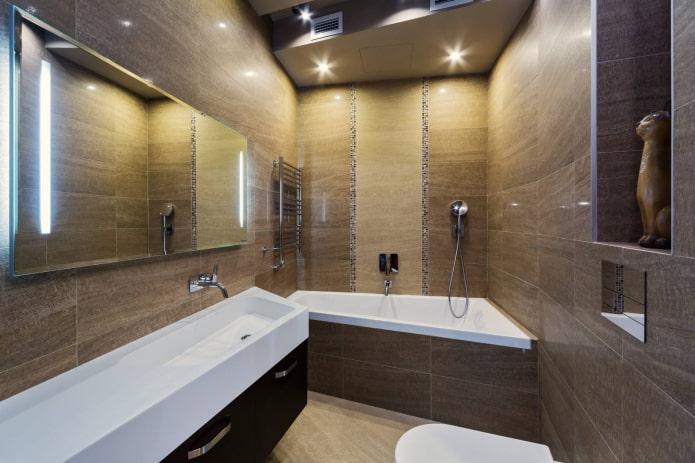 Ассиметричная трапециевидная ванна