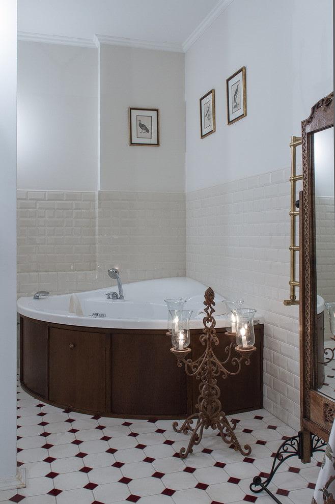 угловая ванна в стиле классика