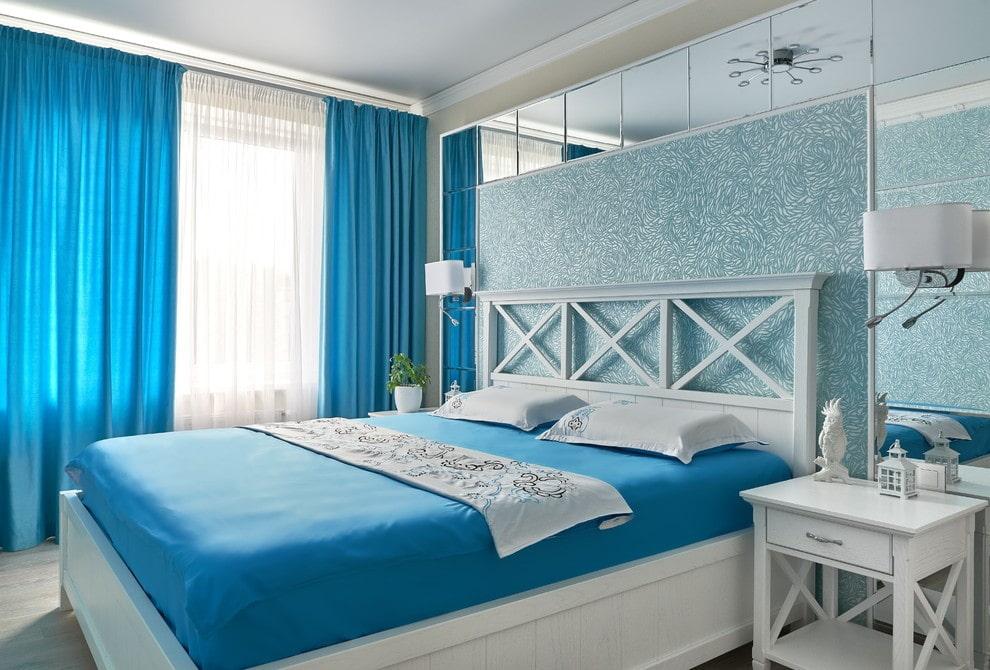 картинки спален в синих тонах разогретую