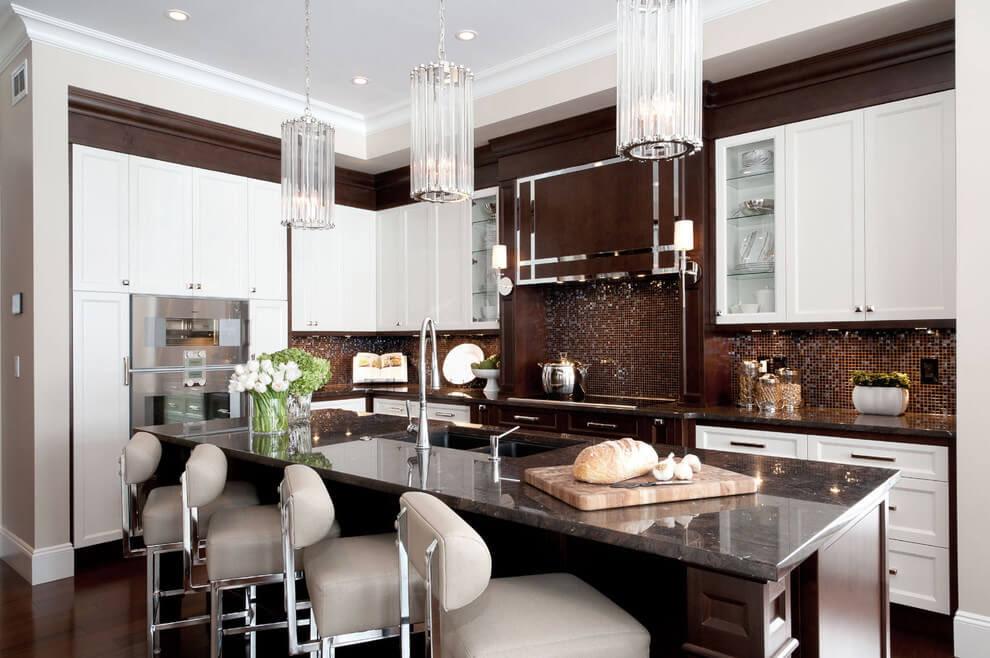 что-то сделать, дизайн бело коричневой кухни фото вошла федеральный