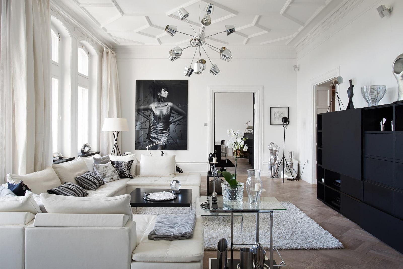 черно белые фото в интерьере гостиной познавательных фото, которые
