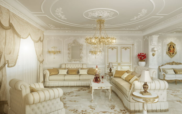 Белая гостиная: 55 фото в интерьере, современные идеи дизайна