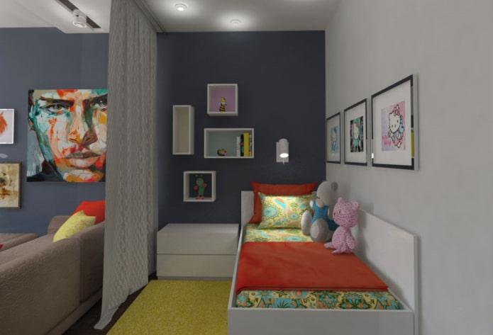 Детская в хрущевке: 55 реальных фото и гид по дизайну