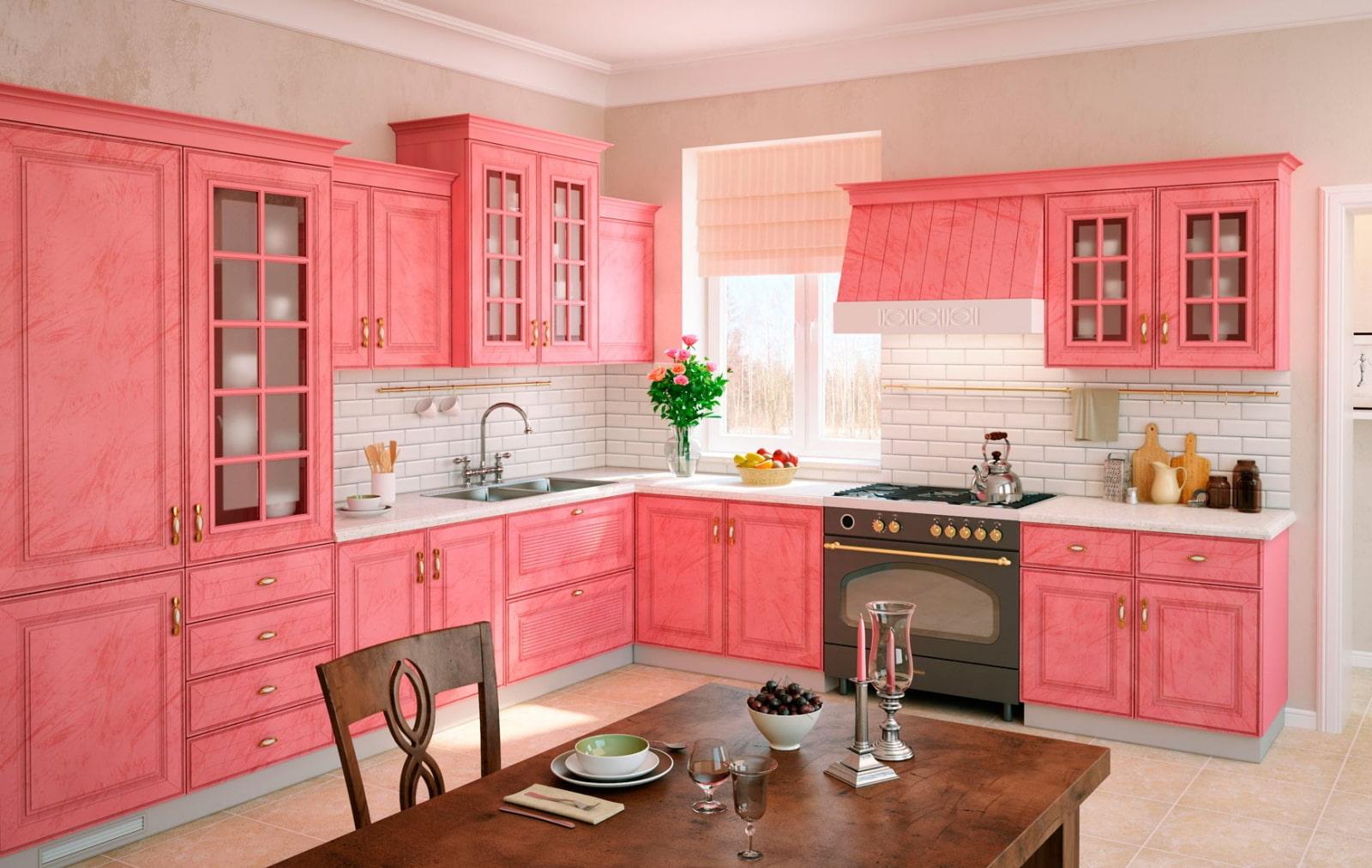 теснина фото кухонь розового цвета федор сотников
