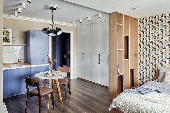 мебель в зонировании кухни-спальни