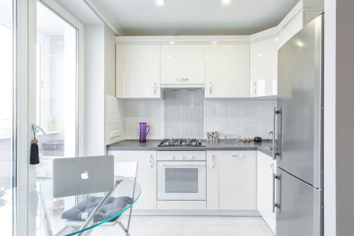 дизайн светлой кухни