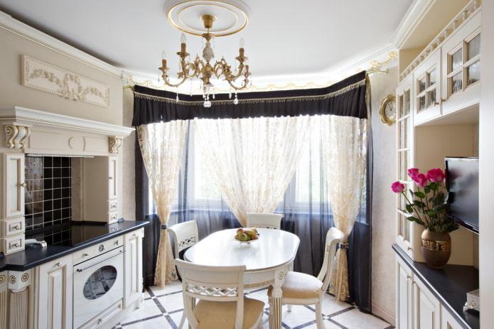 дизайн маленькой классической кухни
