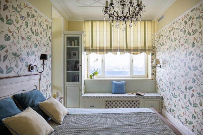 текстиль и декор в интерьере спальни в прованском стиле