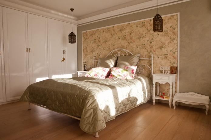 отделка спальни в прованском стиле