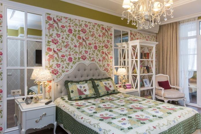 мебель в интерьере спальни в прованском стиле
