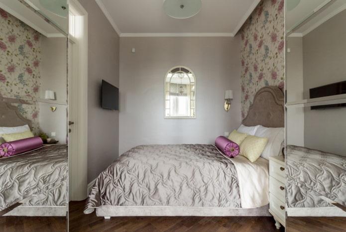 спальная комната в стиле классика в хрущевке