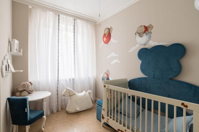 Детская комната для новорожденного: 60 фото, дизайн для девочки и мальчика