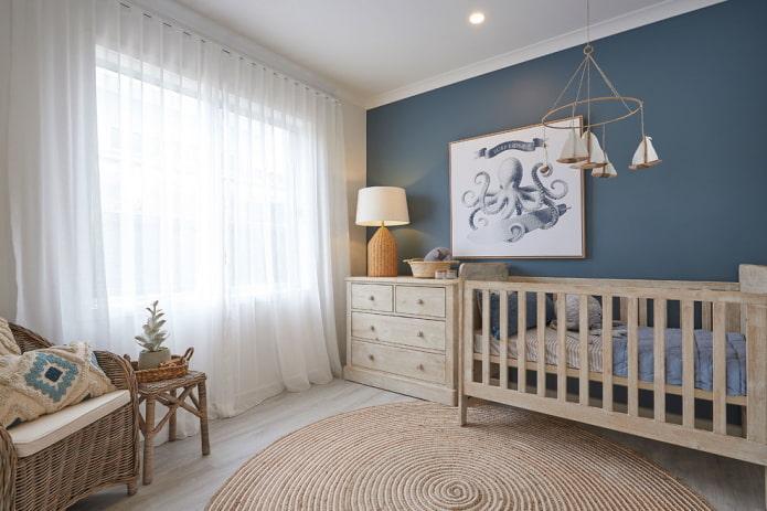 Детская комната в морском стиле: 45 фото, гид по дизайну