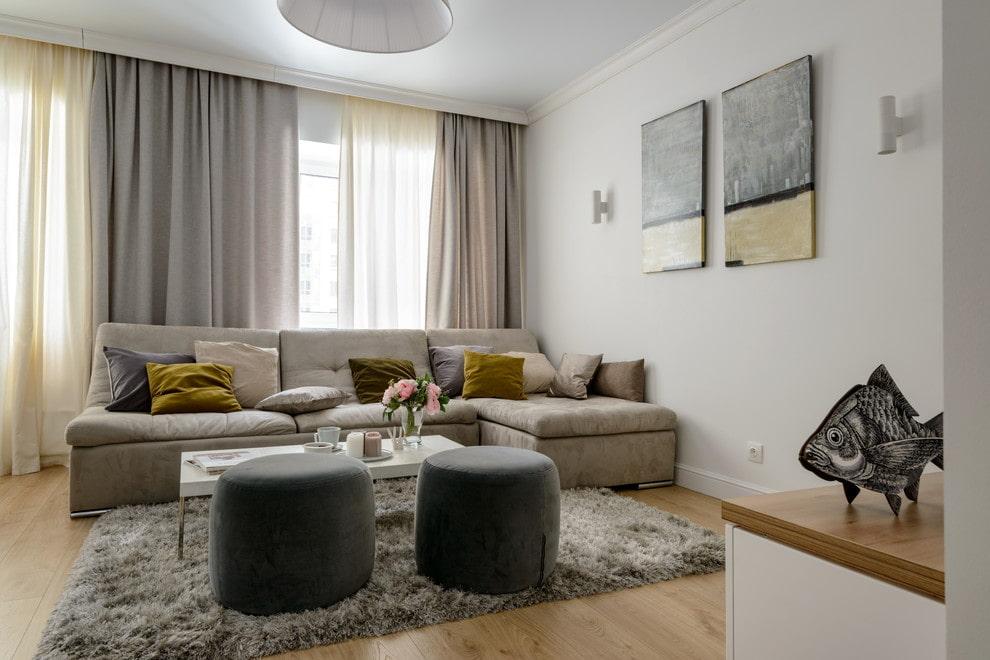 аверсе квартира в серо бежевых тонах дизайн фото центральной