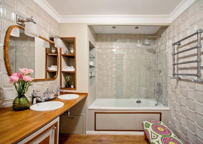 Серо-коричневая ванная