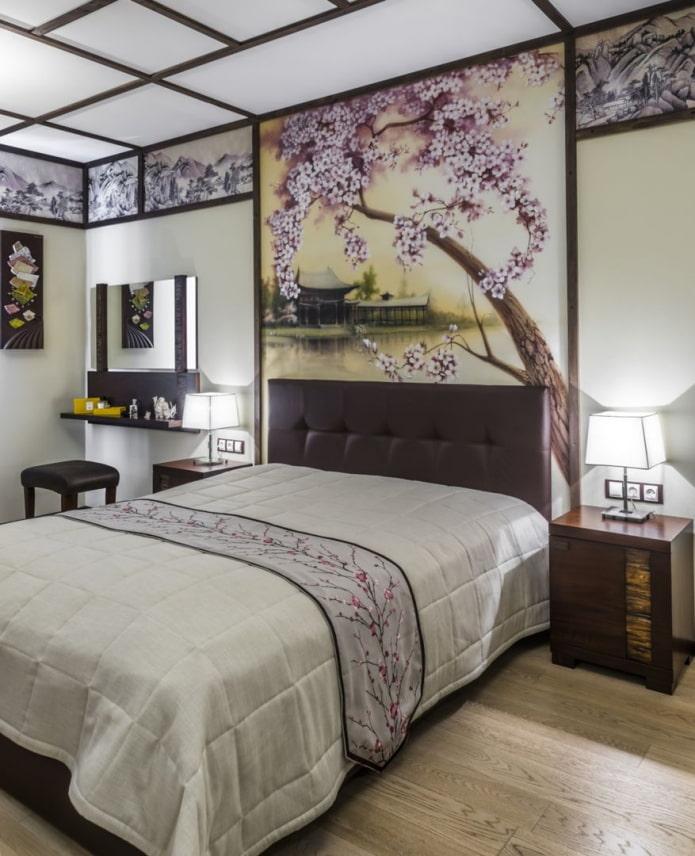 спальня с японским оформлением