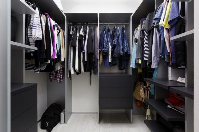 Дизайн гардеробной комнаты: 70 фото, лучшие идеи оформления Дизайн Спальни С Угловой Гардеробной