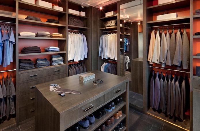 Дизайн гардеробной комнаты: 70 фото, лучшие идеи оформления