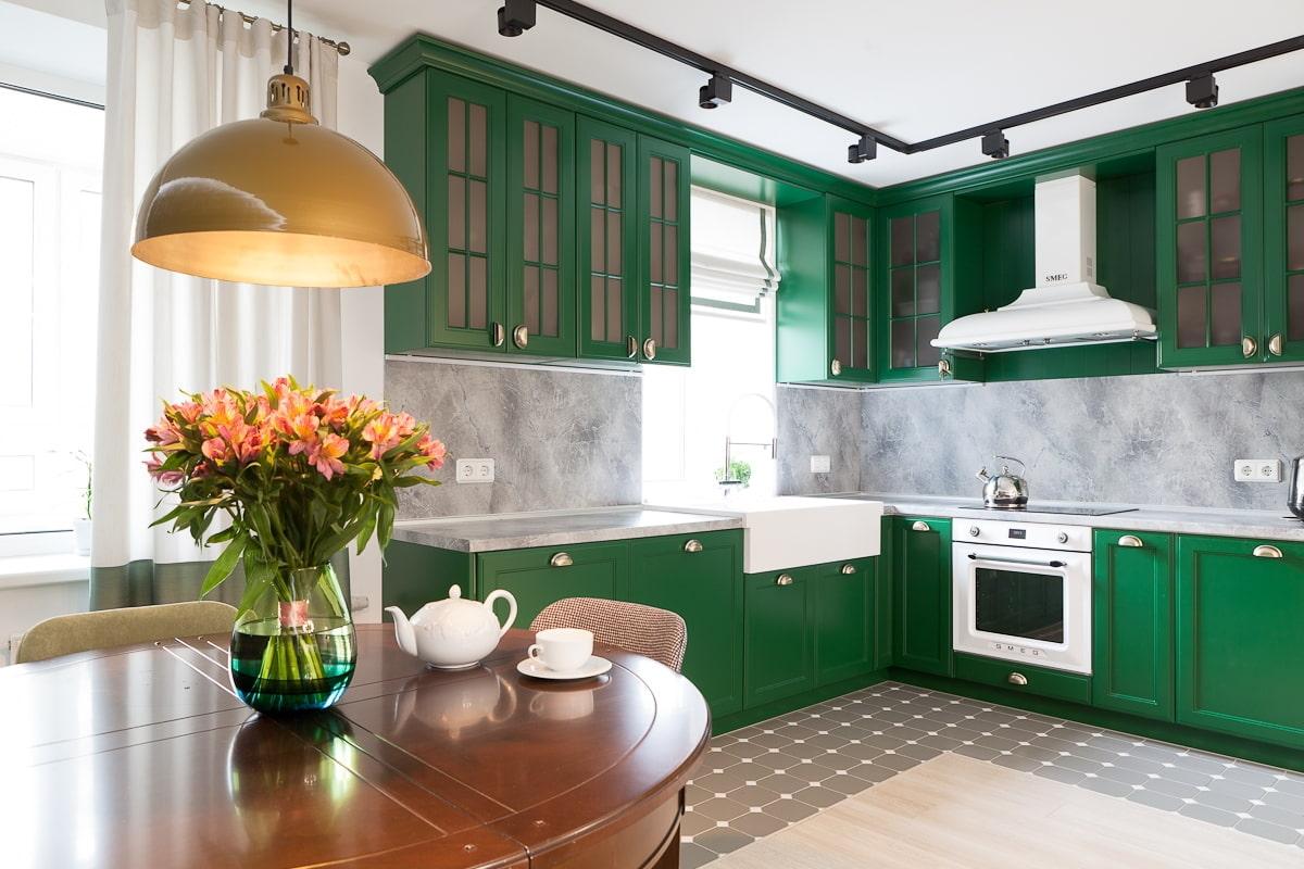 собраны кухни в вишнева зеленом цвете фото ног самые