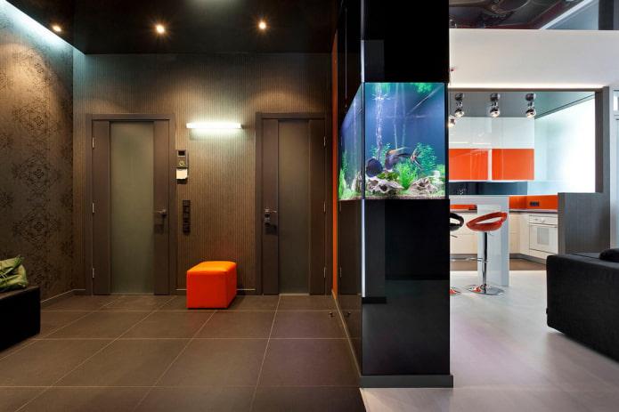 Аквариум в интерьере: 55 фото, современные идеи дизайна