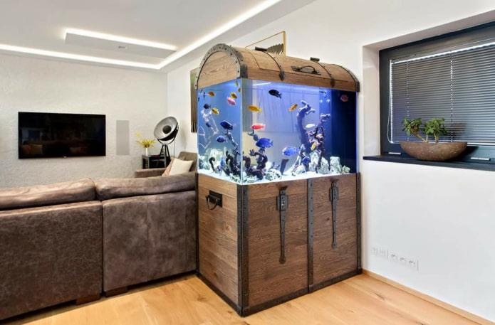 дизайнерское оформление аквариума
