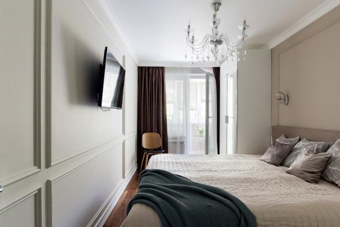 оформление спальной комнаты 9 квадратов