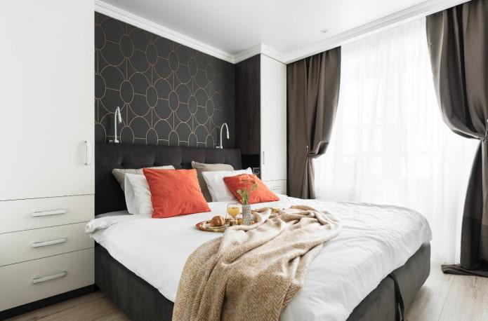 спальная комната 9 квадратов для девушки
