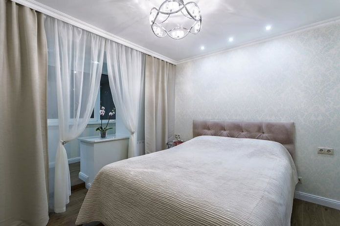 планировка спальной комнаты 9 квадратов