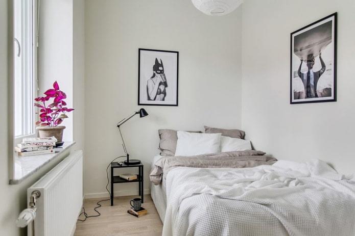 спальная комната 9 квадратов в скандинавском стиле