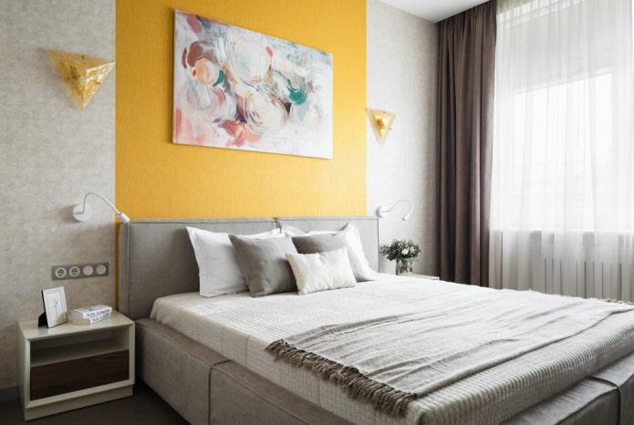 спальная комната 9 квадратов в современном стиле