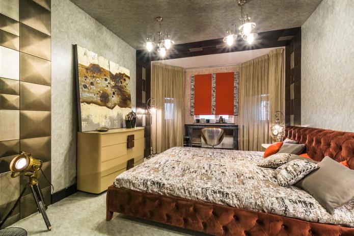 зонирование спальни совмещенной с лоджией