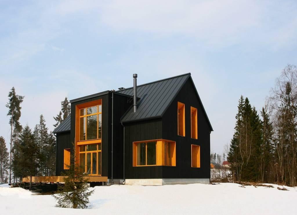 очень простой скандинавского домики фото основе