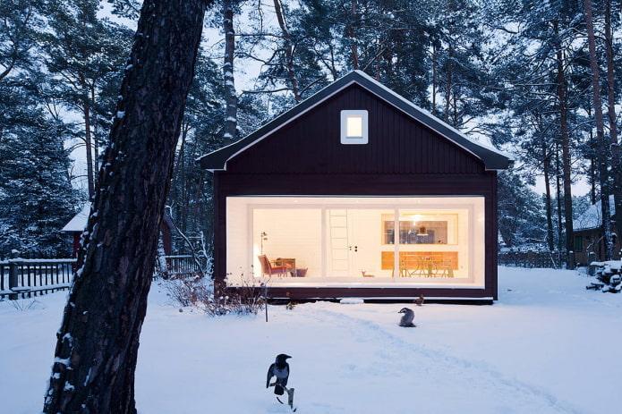 маленький дом в скандинавской стилистике