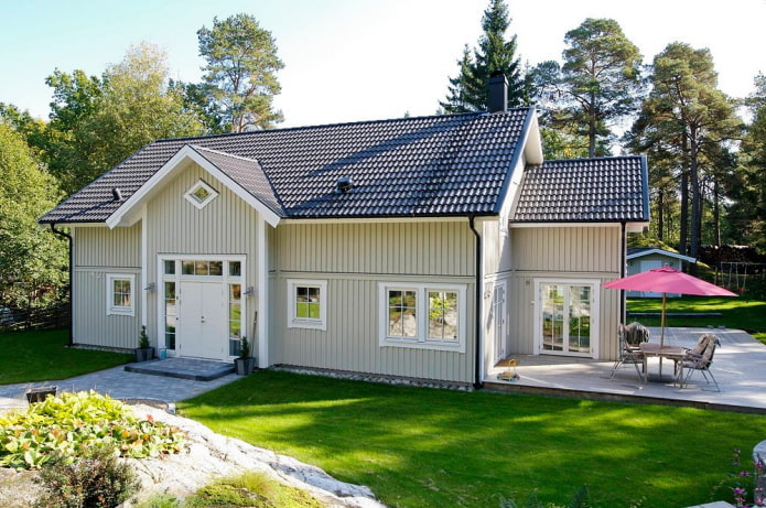 дачный домик в скандинавской стилистике