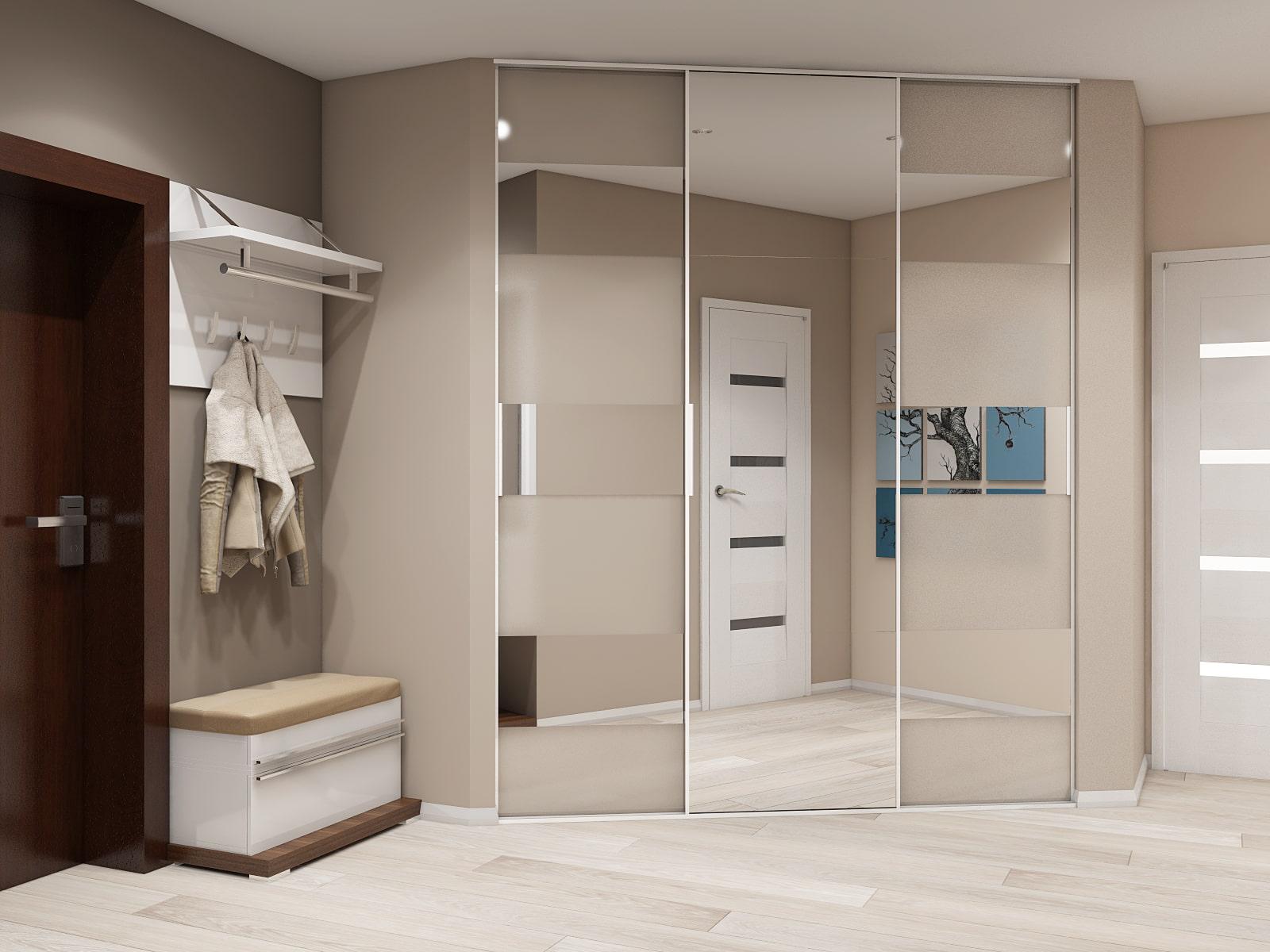 Шкафы купе фото современные в коридор сравнению