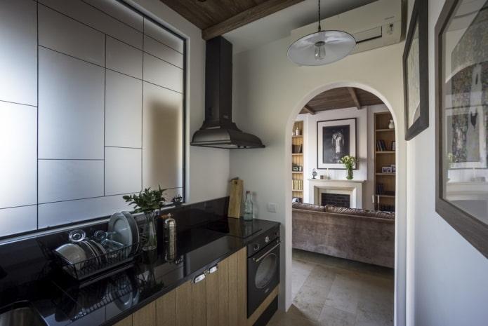 дизайн интерьера кухни-прихожей
