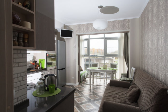 кухня-гостиная 16 кв с лоджией