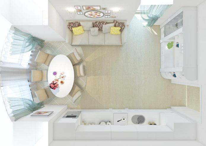 Планировка кухни-гостиной 30 кв м