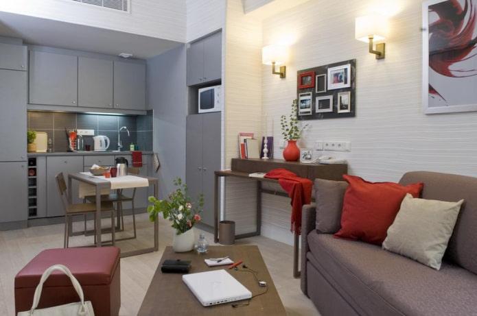 обустройство кухни-гостиной 15 квадратов