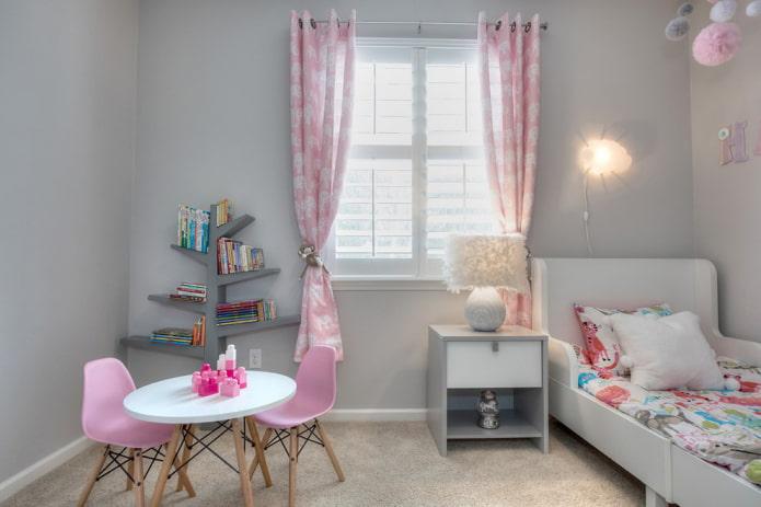 Интерьер детской в сером цвете: 55 фото, идеи дизайна