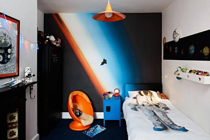 Комната в стиле космос